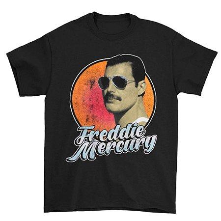 Camiseta Básica Cantor Freddie Mercury Script