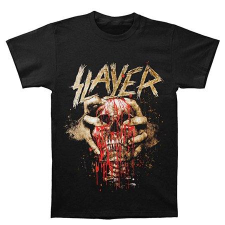 Camiseta Básica Banda Thrash Metal Slayer Skull Clench