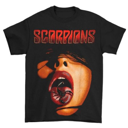Camiseta Básica Banda Rock Scorpions Scorpion Tongue