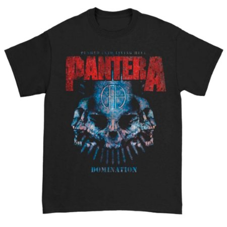 Camiseta Básica Banda Pantera Thrash Metal Domination