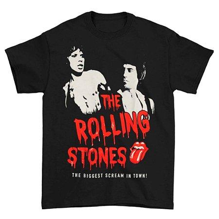 Camiseta Básica Banda Rock The Rolling Stones Horror