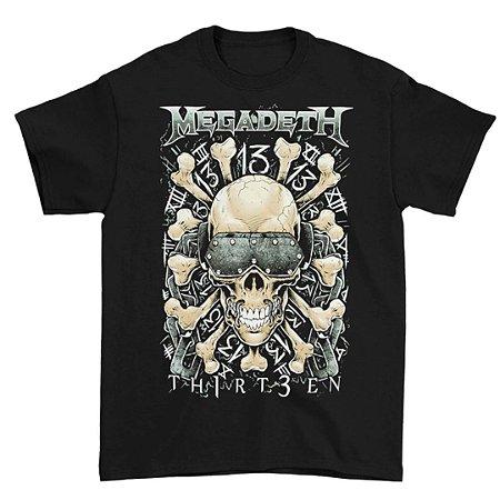 Camiseta Básica Banda Heavy Metal Megadeth Ossos