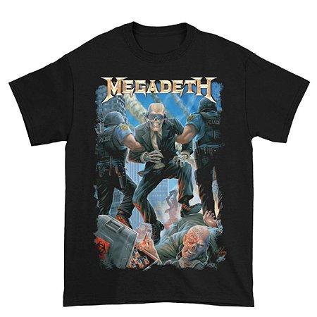 Camiseta Básica Banda Heavy Metal Megadeth Vic Taken Away