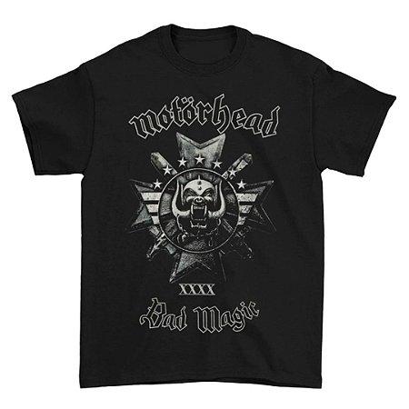 Camiseta Básica Banda Heavy Metal Motörhead Bad Magic