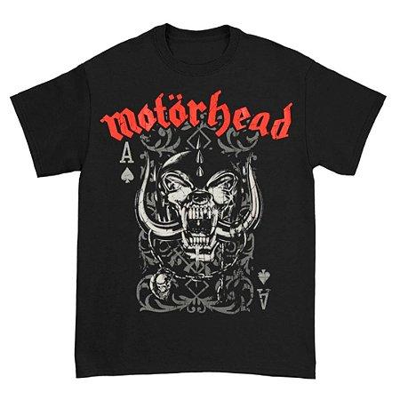 Camiseta Básica Banda Heavy Metal Motörhead Playing Card