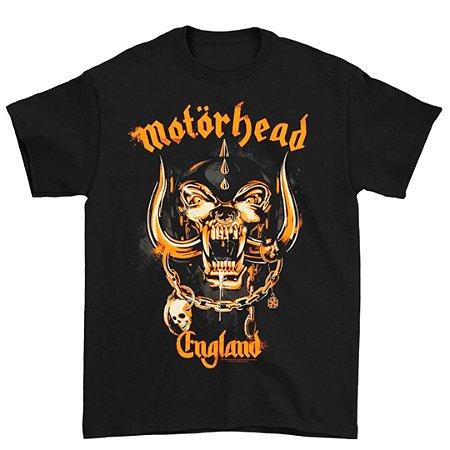 Camiseta Básica Banda Heavy Metal Motörhead Yellow