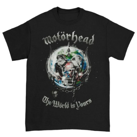 Camiseta Básica Banda Heavy Metal Motörhead The World Is Yours 2011 World Tour