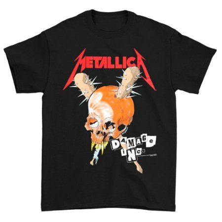 Camiseta Básica Banda Heavy Metal Metallica Damage Inc. Tour