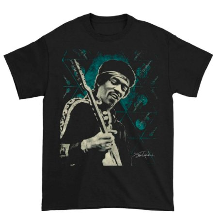 Camiseta Básica Lendas Do Rock Cantor Jimi Hendrix Blue