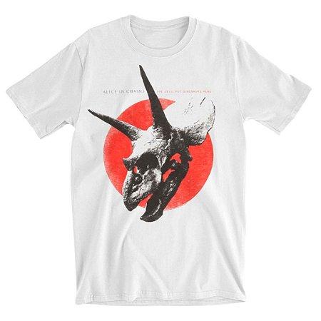 Camiseta Básica Banda Rock Alice In Chains Red Dot