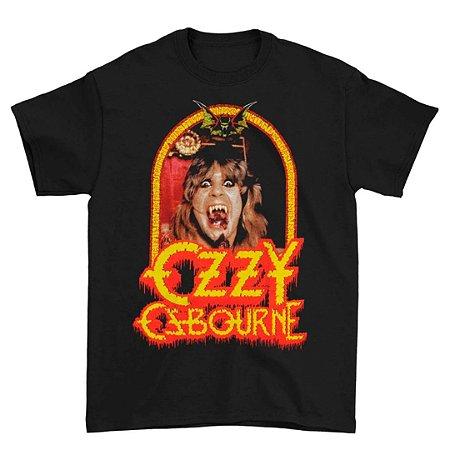 Camiseta Básica Lendas Do Rock Cantor Ozzy Osborne Devil Frame