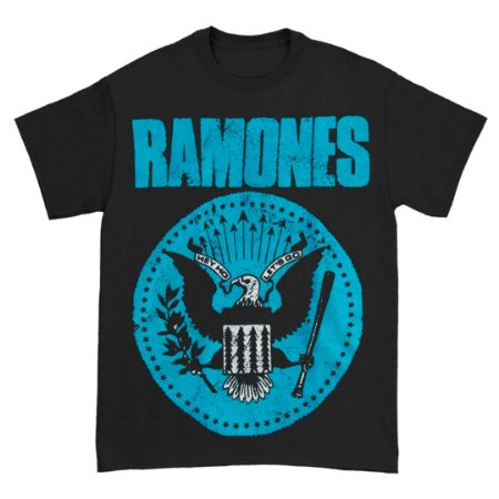 Camiseta Básica Banda Rock Ramones Distressed Blue