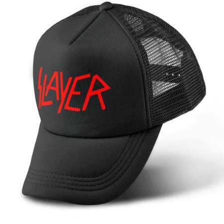 Boné Trucker Com Telinha Banda Heavy Metal Slayer