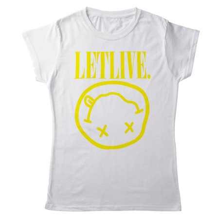 Camiseta Feminina Baby Look Banda Rock Nirvana Letlive