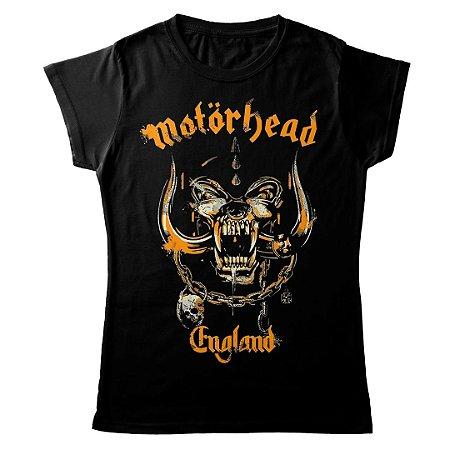 Camiseta Feminina Baby Look Banda Heavy Metal Motörhead Yellow