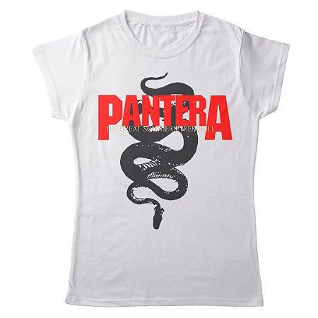 Camiseta Feminina Baby Look Banda Pantera Thrash Metal GST