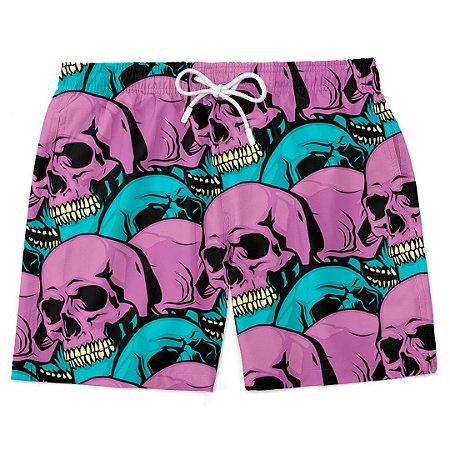 Bermuda Short Praia Skull Purple