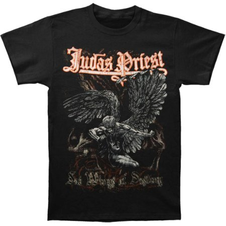 Camiseta Básica Banda Heavy Metal Judas Priest Sad Wings