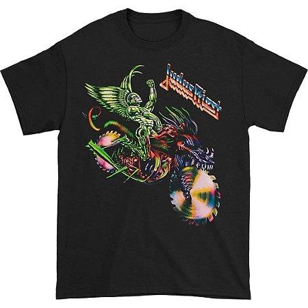 Camiseta Básica Banda Heavy Metal Judas Priest Painkiller Rider