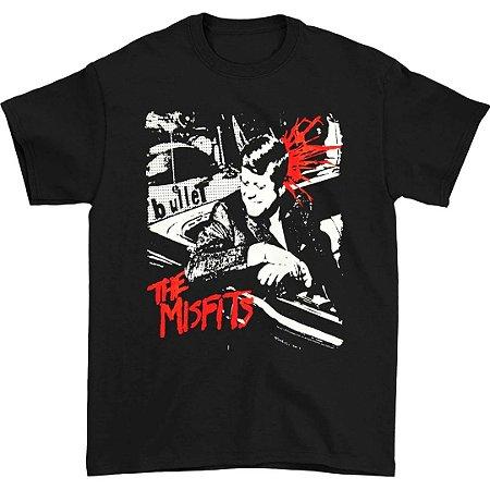 Camiseta Básica Banda Heavy Metal Misfits Bullet