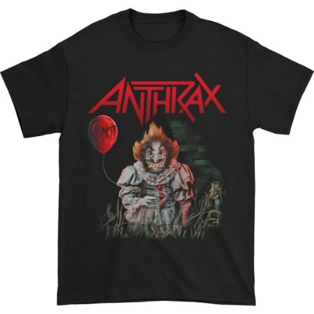 Camiseta Básica Banda Heavy Metal Anthrax Smiling NOT Clown