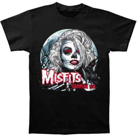 Camiseta Básica Banda Heavy Metal Misfits Vampire Girl