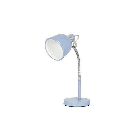 Luminária de Mesa Azul Metal Abu Inspire
