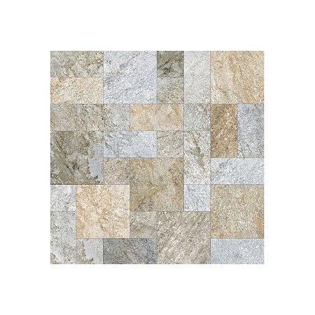 Piso Cerâmico Externo Pedra Esmaltado Borda Arredondada Topazio CA14521 54x54cm Casagrês