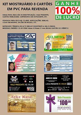 KIT 8 CARTÕES DE PVC - REVENDA
