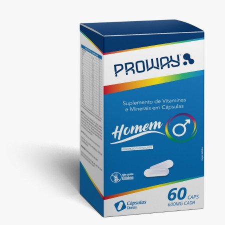 Suplemento Vitaminico Homem 60caps 600mg