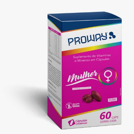 Suplemento Vitaminico Mulher 60caps 500mg