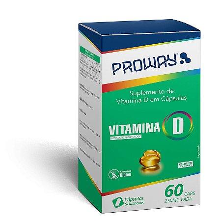 Suplemento de Vitamina D 60caps 250mg