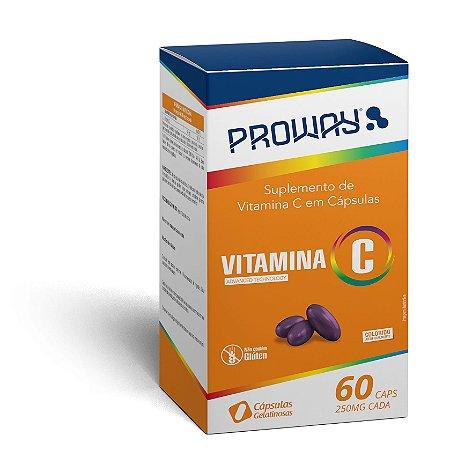 Suplemento de Vitamina C 60caps 250mg