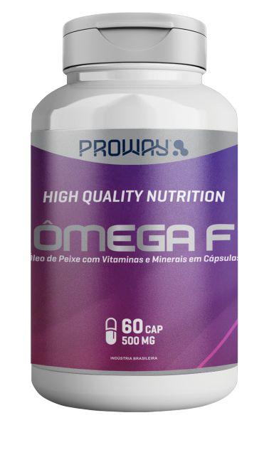 Omega F 60 Caps 1450mg + Vitaminas A - Z  com Minerais