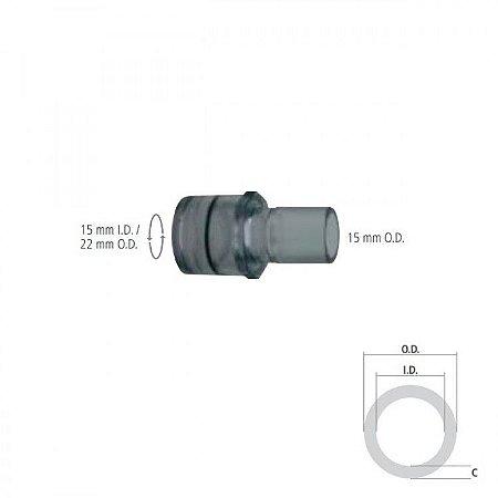 Conector Reto Giratório I.D. 15mm  O.D. 22mm e O.D. 15 mm
