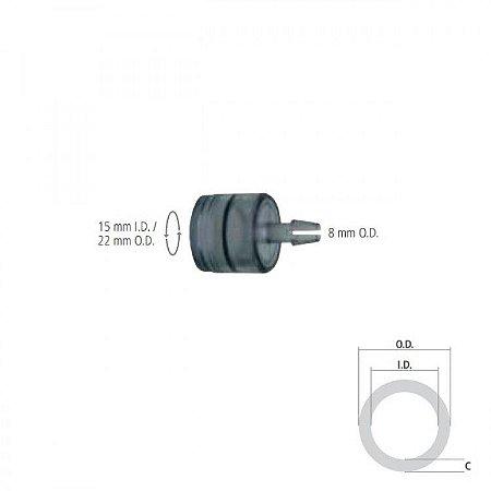 Conector Reto Giratório I.D. 15mm / O.D. 22mm e O.D. 8 mm