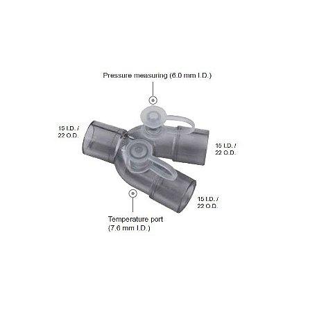 Conector Y Reto c/ mensuração de pressão e temperatura VBM