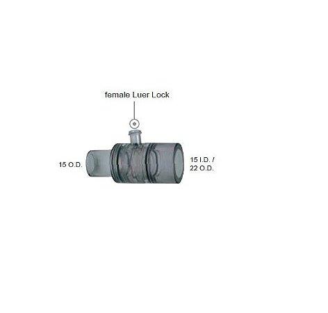 Conector Reto Luer Lock Femea (15 I.D x 22 O.D.) VBM