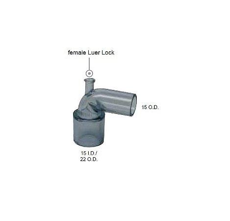 Conector angulado luer lock femea VBM