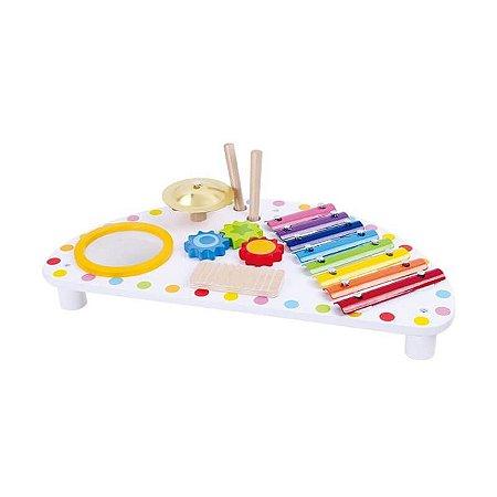 Mesa musical - Brinquedo Educativo Sonoro de Madeira