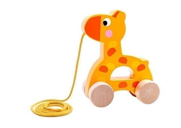 Brinquedo de puxar - Girafa