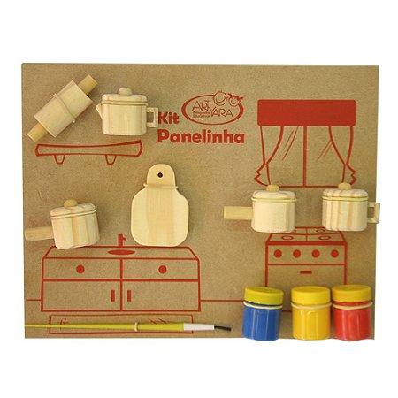 Kit Panelinha - Brinquedo Educativo de Madeira