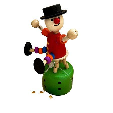 Brinquedo de madeira articulado - Palhaço