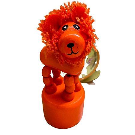 Brinquedo de madeira articulado - Leão