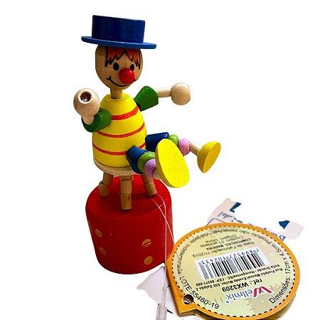 Brinquedo de madeira articulado - Palhaço Colorido