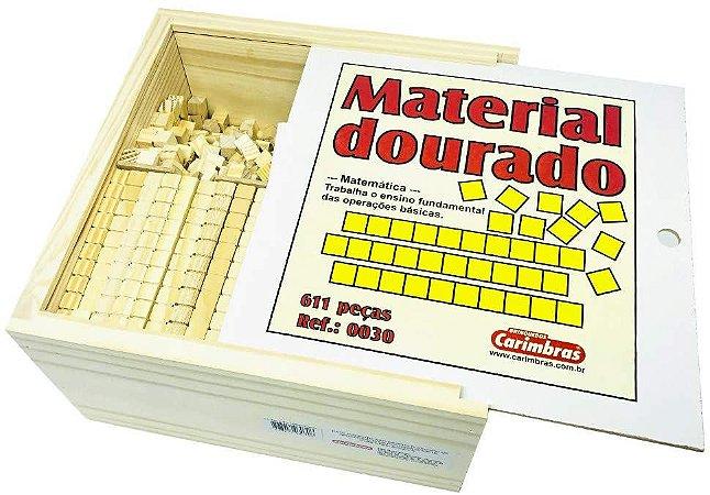 Material Dourado de Madeira 611 peças  - Conceitos Matemáticos