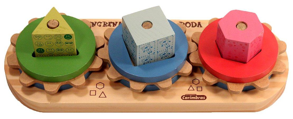 Engrena Roda - Brinquedo Educativo de Madeira