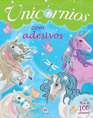 Livro Infantil de Atividades - Unicórnios com Adesivos