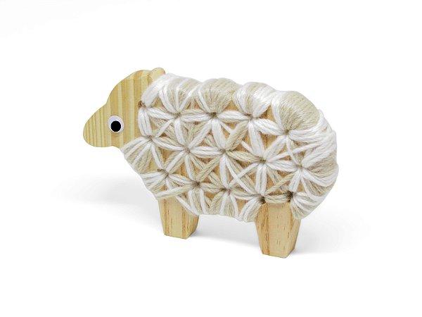 Alinhavo Ovelha Lika - Brinquedo Educativo de Madeira