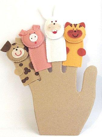 Dedoche Animais Domésticos - Fantoches de Dedo